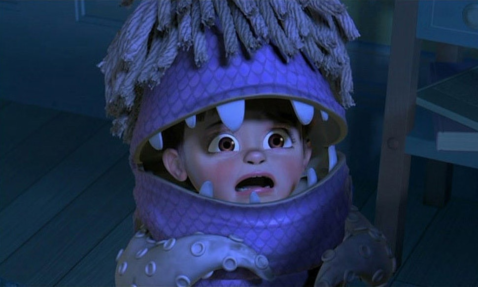 Fig. 1 - Boo scared by Sulley in  Monsters, Inc.