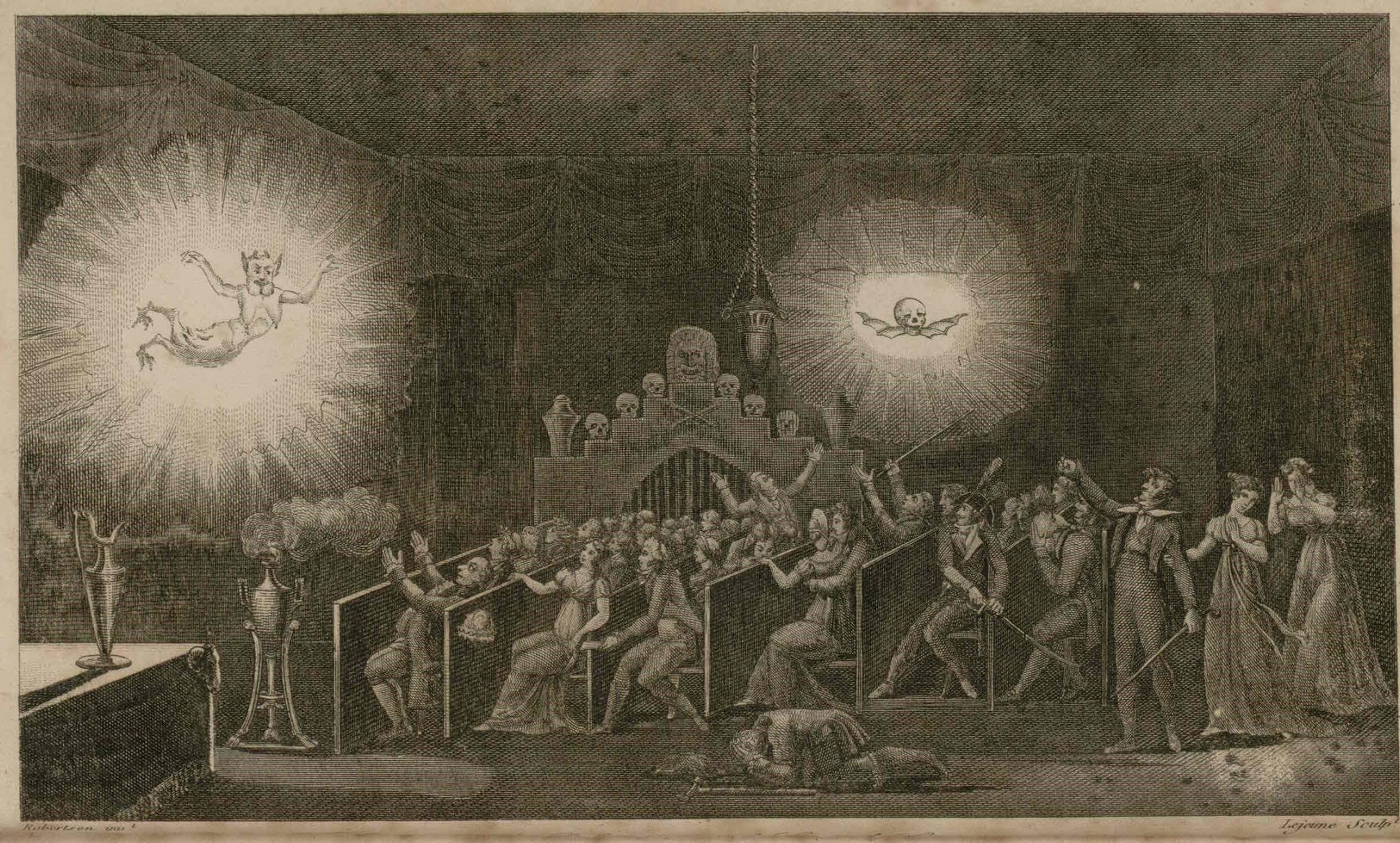 Fig.1 - Image from Etienne Gaspard Robertson  Mémoires récréatifs, scientifiques et anecdotiques  (1831).