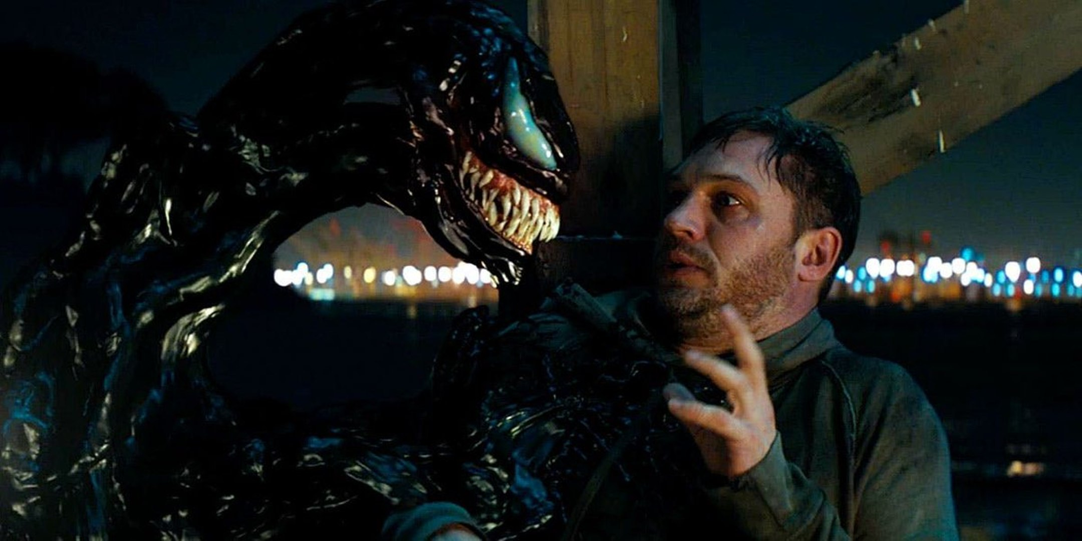 Fig. 3 - Eddie Brock (Tom Hardy) and the symbiote share the same aggregate body.