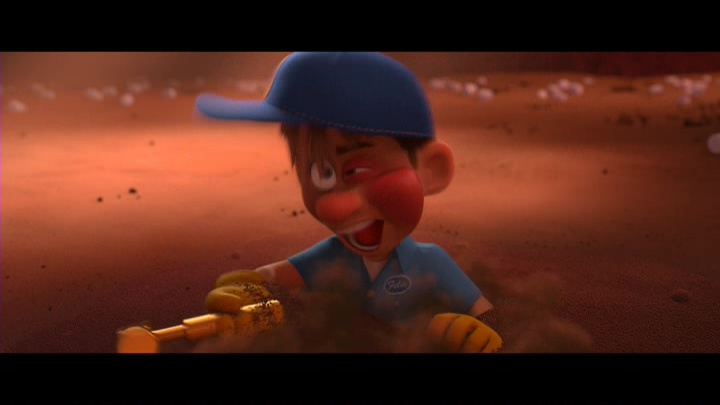 Fig. 2 - Fix-It Felix 'mends' his body after each violent act in  Wreck-It Ralph .