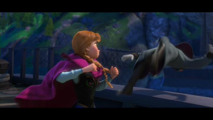 Fig. 3 - Anna strikes Hans in  Frozen .