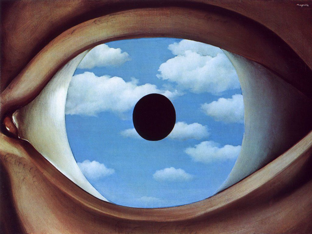 Fig. 2 -  The False Mirror  (René Magritte,1928).