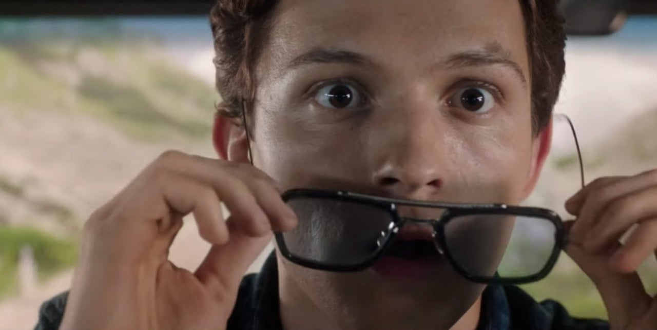 Fig. 3 - Peter Parker (Tom Holland) wears Tony Stark's signature tinted glasses.