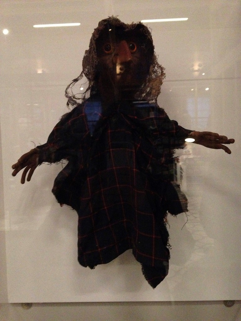 Fig. 1 - The Witch from  The Pogles , photographed by the author at the V&A Museum of Childhood exhibition  Bagpuss and Co  in March 2016.