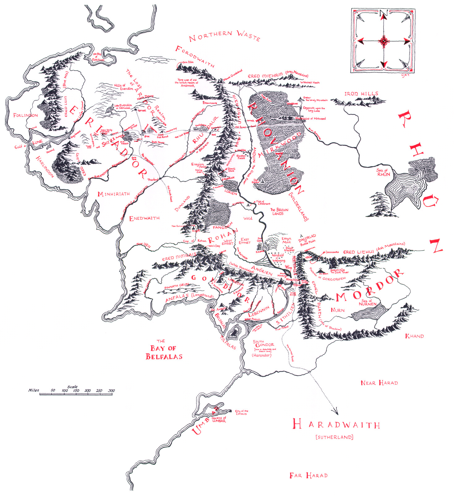 Fig. 1 - Map of Middle-earth (1968).