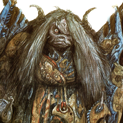 Fig. 5 - Aughra concept art by Brian Froud.