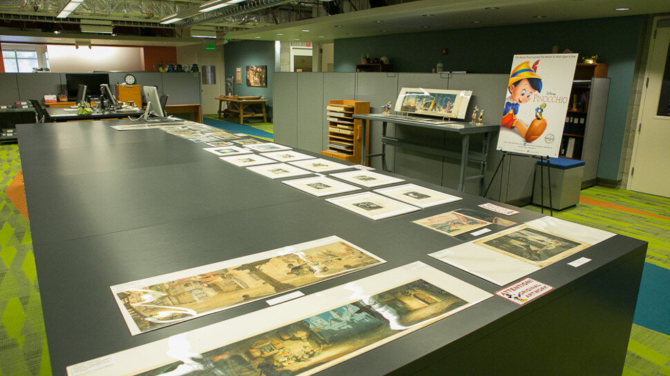 Fig. 3 - Inside the Walt Disney Animation Research Library (ARL).