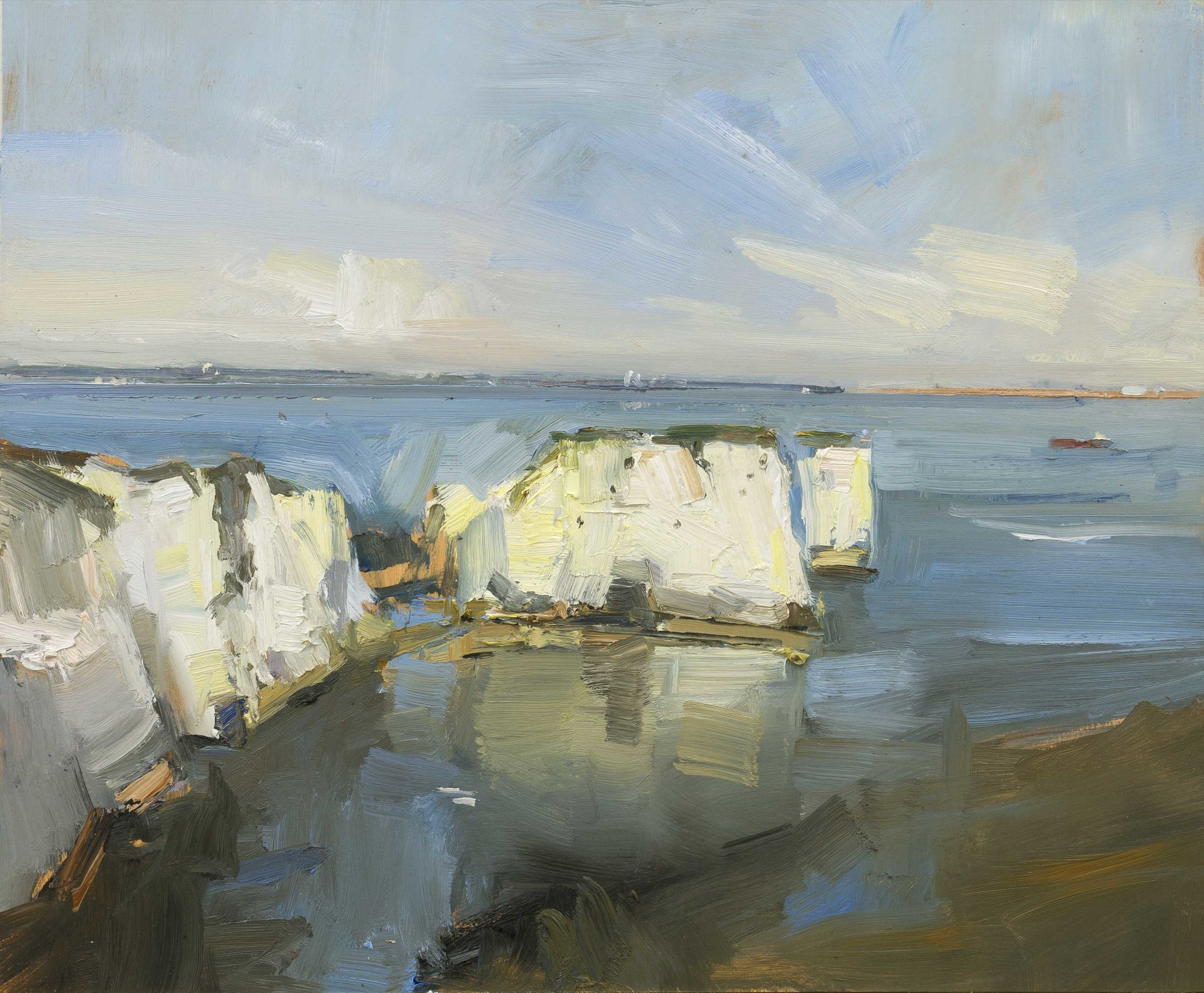 23.Afternoon Light Old Harry Rocks. 51x61ob copy.jpg