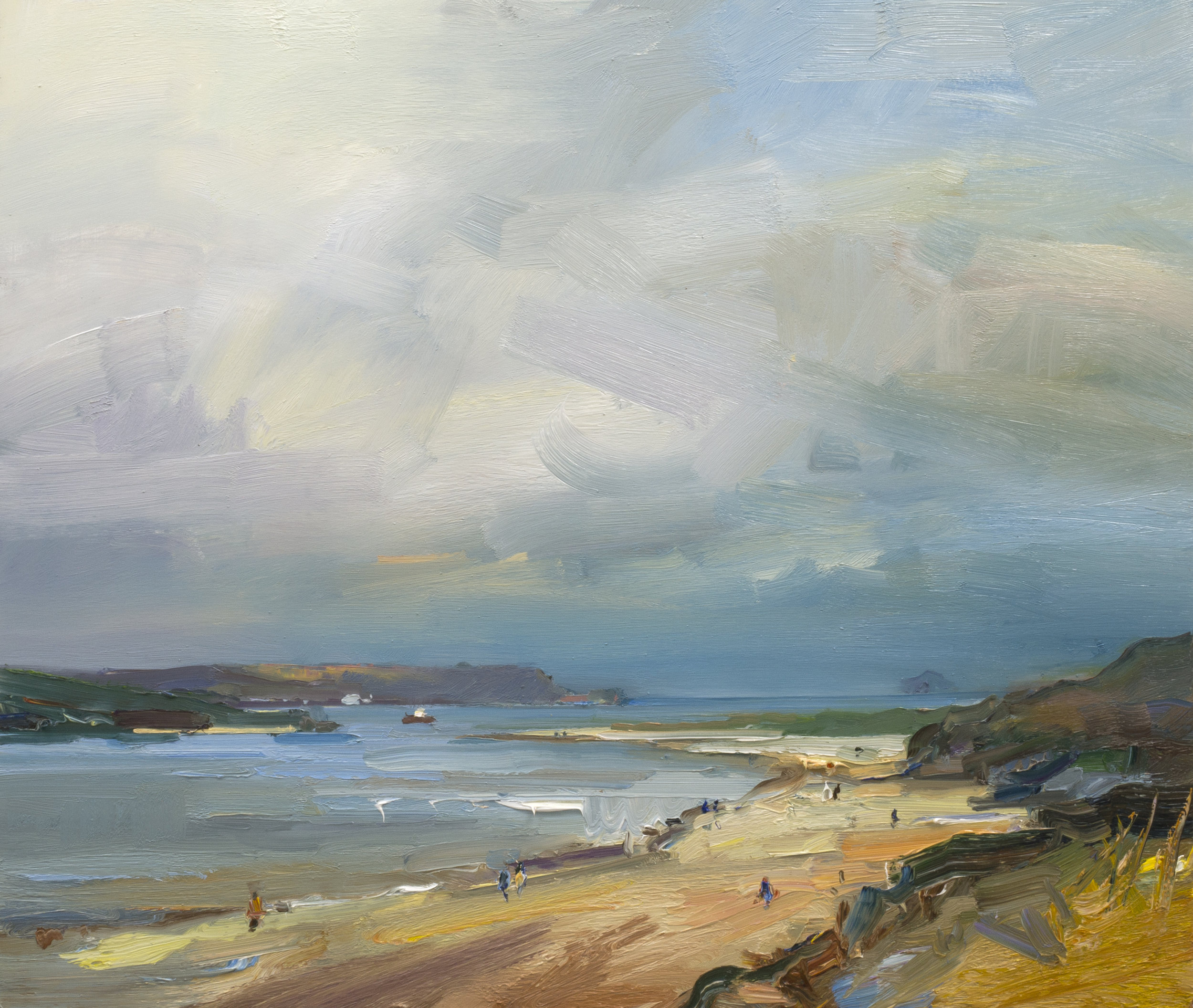 The View from Rock. Cornwall 61x71 oil on board
