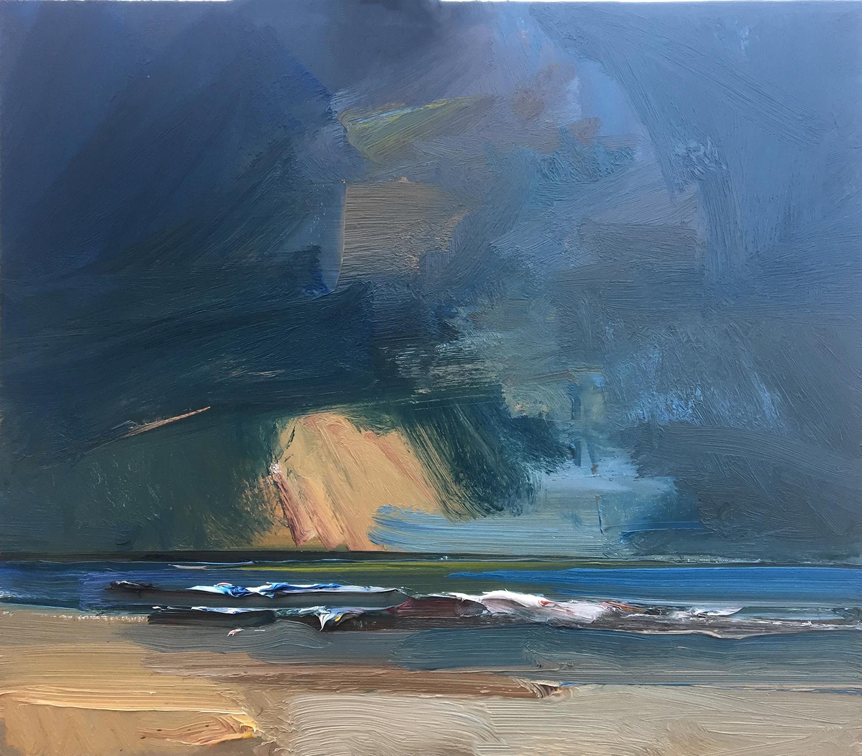 Last Burst of Sunlight Over the North Sea