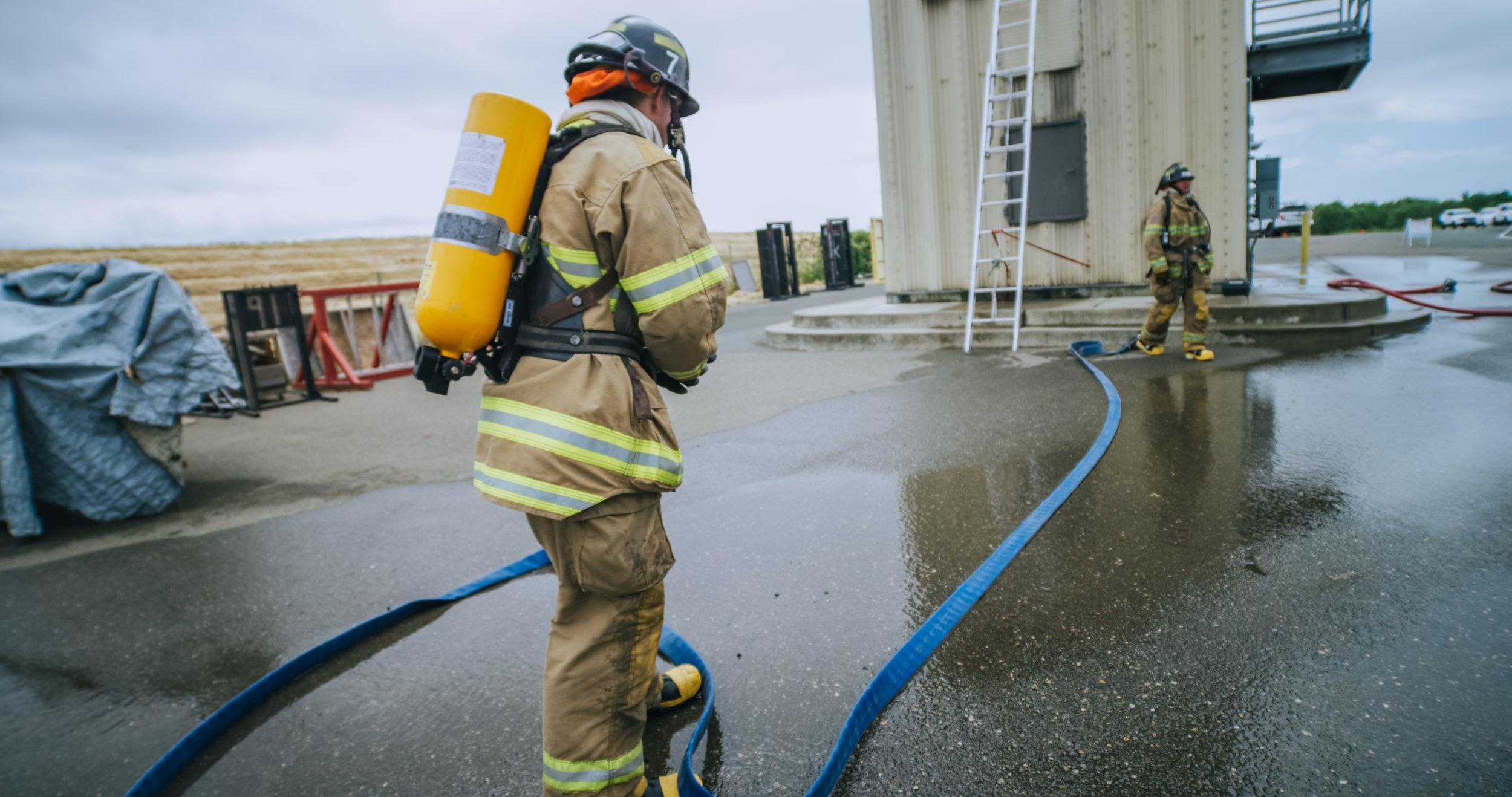 Firefighter student training