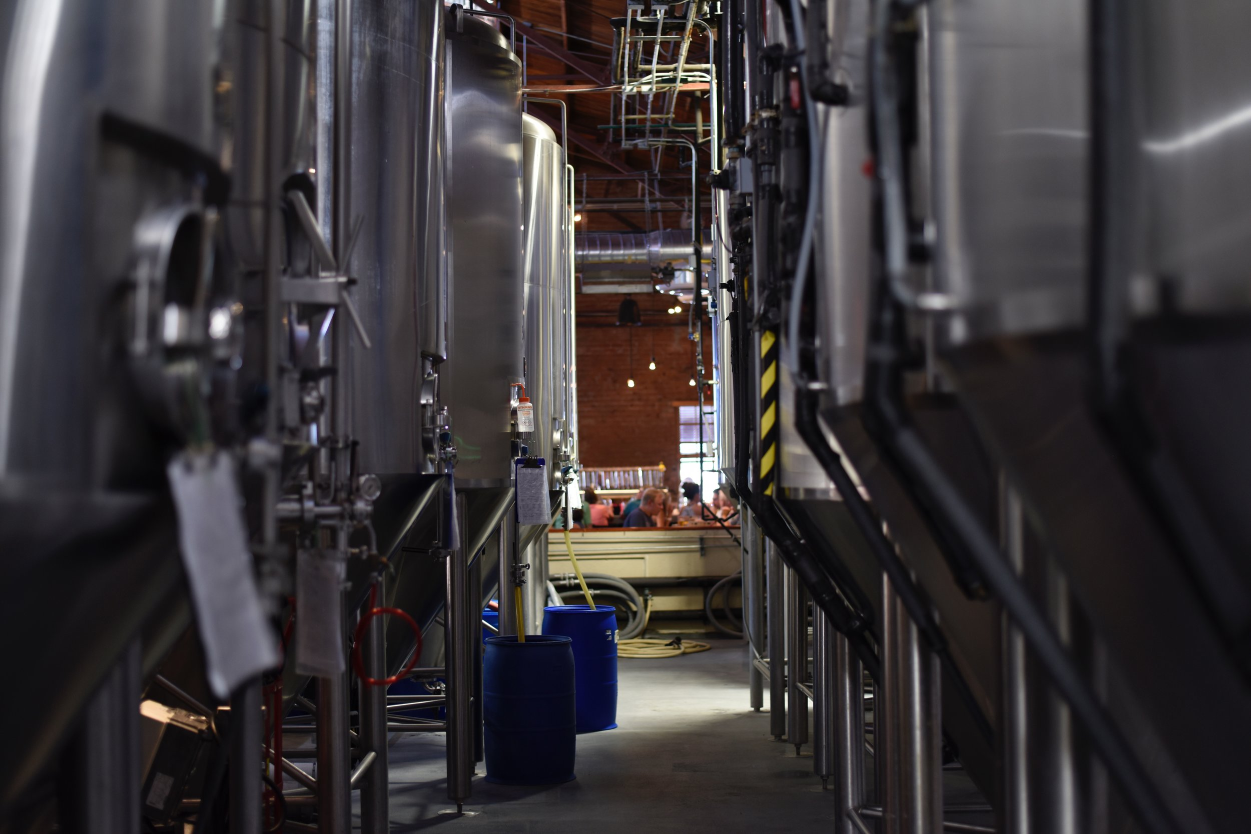 Tanks in brewery