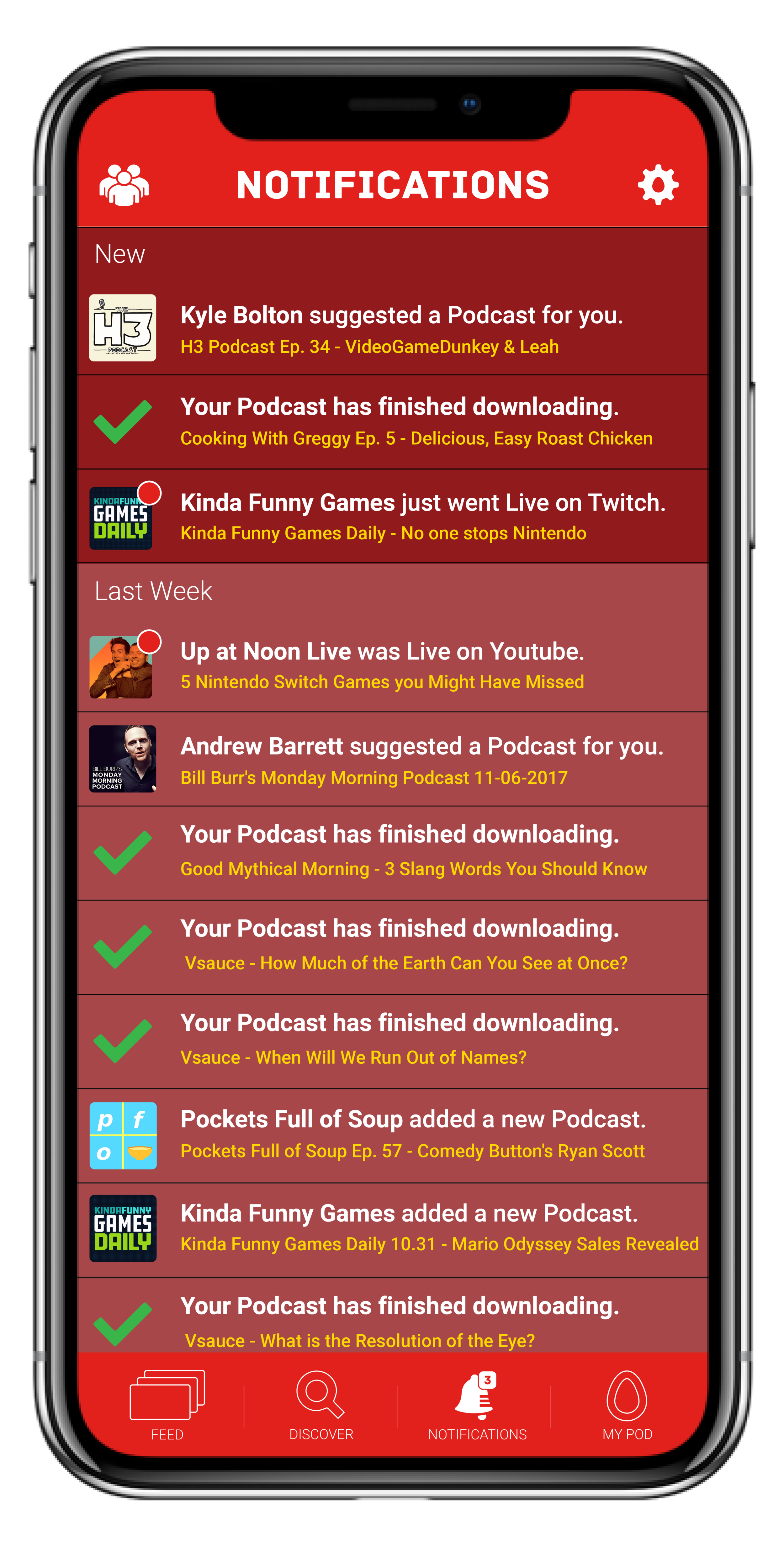 - Share the LoveUsers can suggest Podcasts to their friends, encouraging sharing their personal tastes with others to find a common interest.No Data, No ProblemThe status of your downloaded podcasts will be listed here and you'll be notified when it's ready to be listened to offline.