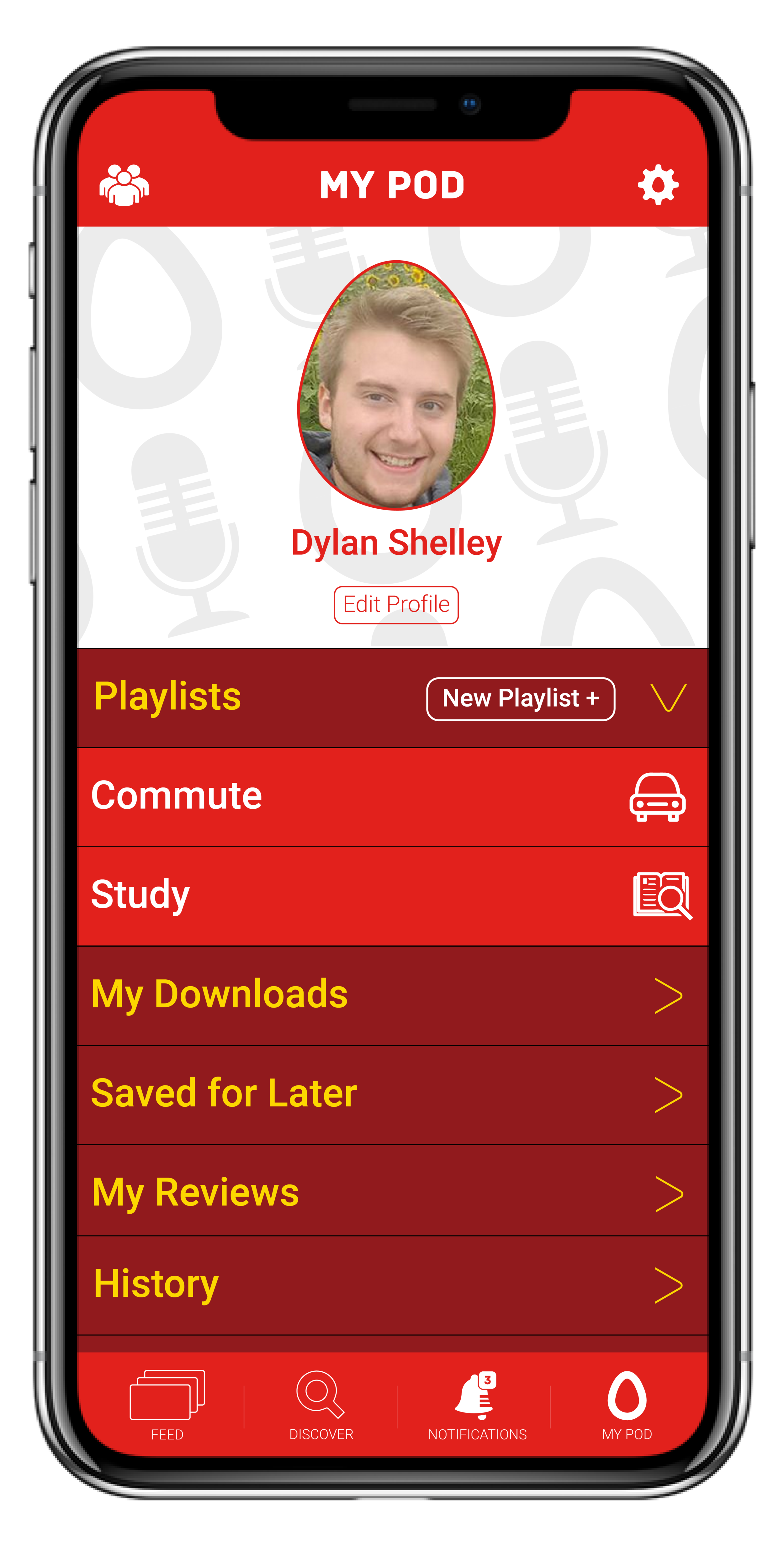 - My PODThis is where everything POD comes together. Everything from your downloads, the reviews you've left, and your listening history can be found here.Boring Commutes be GoneCreate custom playlists to plan out your days accordingly. Allows from easy, hands-free listening all day long.