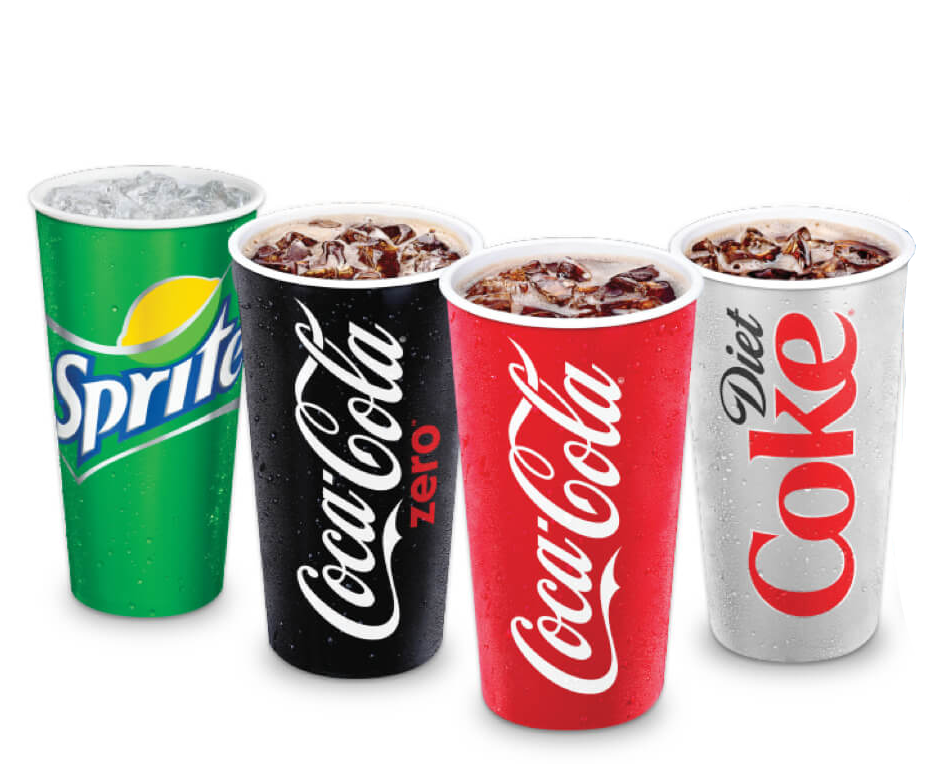 COKE PRODUCTS   fountain drinks available