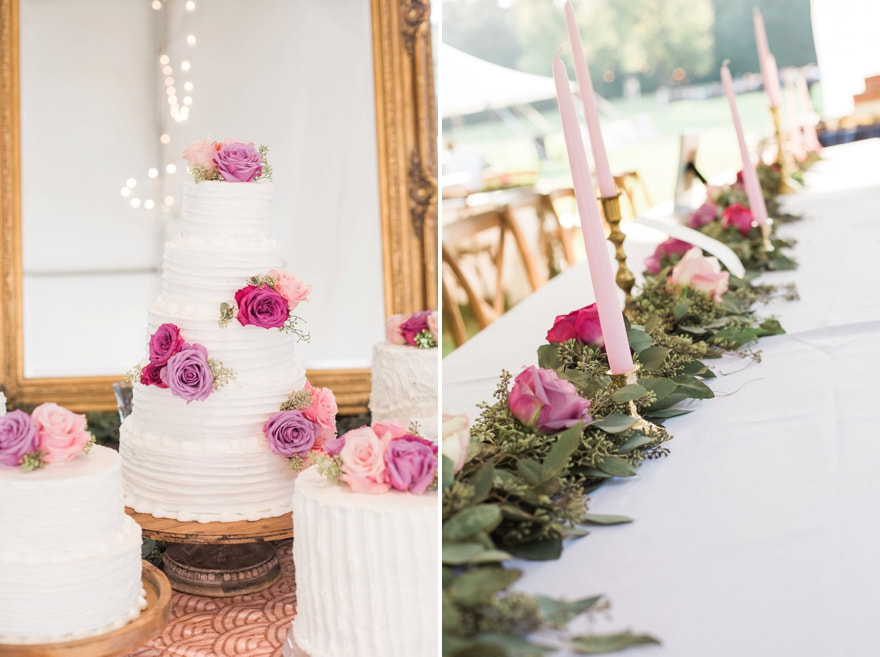pink and purple floral with wedding  cake.jpg