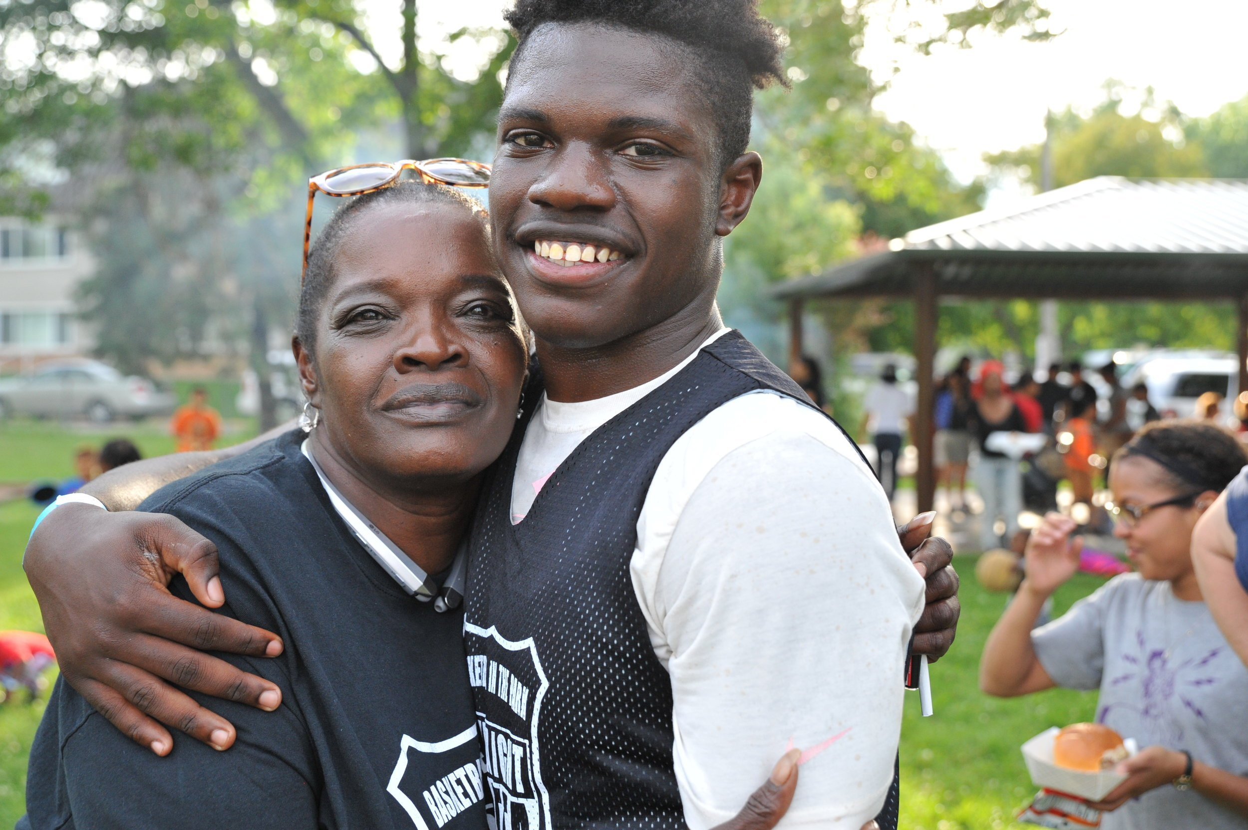 Yolanda and her son, Akili.