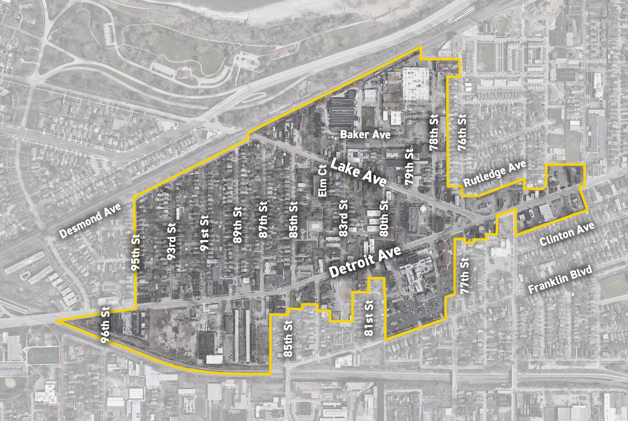 1st Pilot Area Boundary (Detroit Shoreway & Cudell)