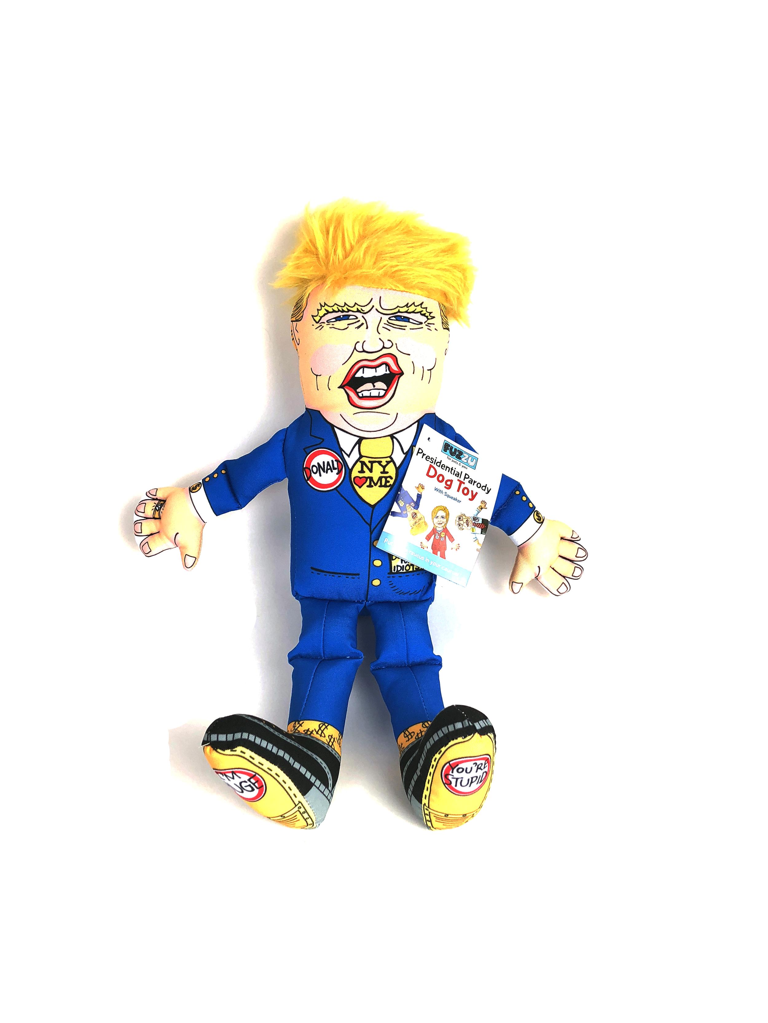 Presidential Parody dog toy Donald Trump by Fuzzu.