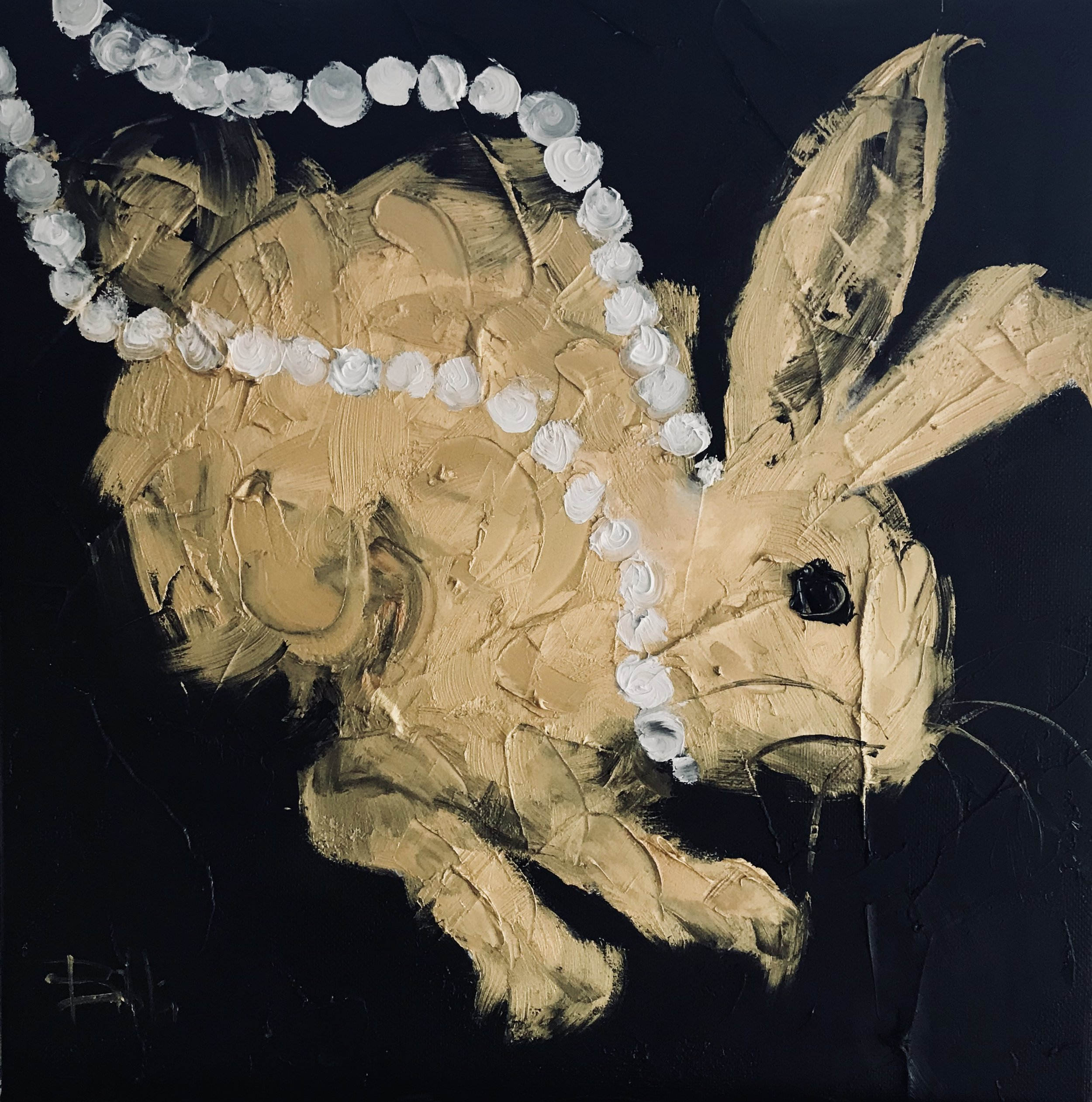 Golden Hare - Chanel Pearls