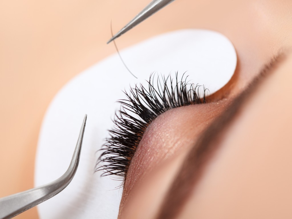 lash installation - There are three types of lash extensions: synthetic, silk and mink. Azuri size availability ranges from 8mm to 13mm. Once selected, the lashes are applied one at a time using a specially formulated, semi-permanent glue that will not irritate the eye nor damage the natural lash.
