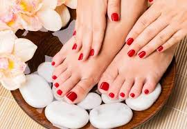 azuri Lux treatments - If this is your very first manicure, you should go with this option. Your hands or feet are first soaked in warm water. This helps to soften up dead skin cells and soothe your cuticles. The technician will then clean your fingernails, clip and file them; you get to choose any length and shape you desire. At this point there is usually a massage and moisturizer is applied to your hands or feet. Your fingernails or toenails are then painted with a polish of your choice—a base coat, a main coat, and a top coat. Finally, your nails are dried and you are all set!