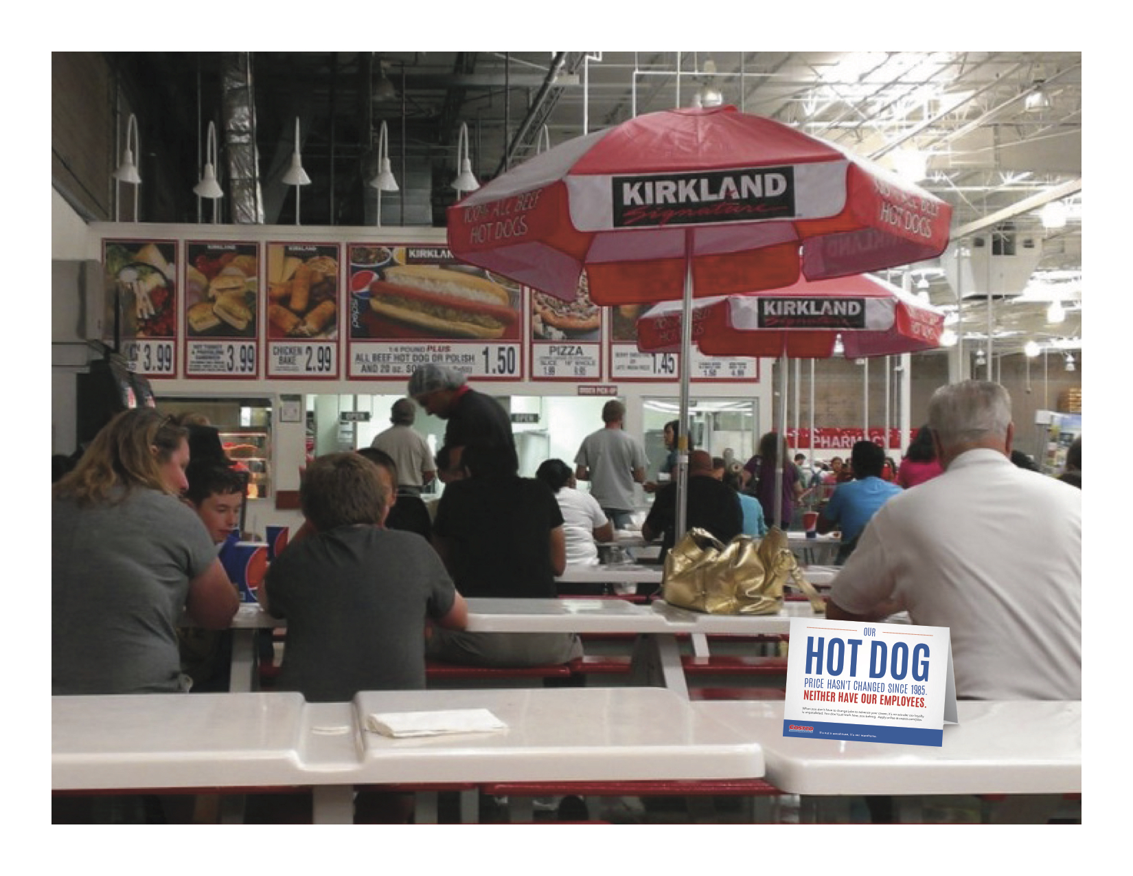 Our hot dog price hasn't changed since 1985. Neither have our employees.