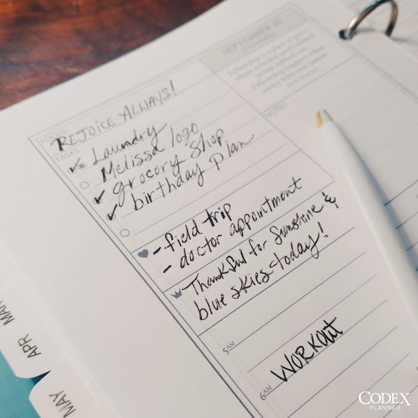 Codex Planner by Creative Founder Carrie Postma