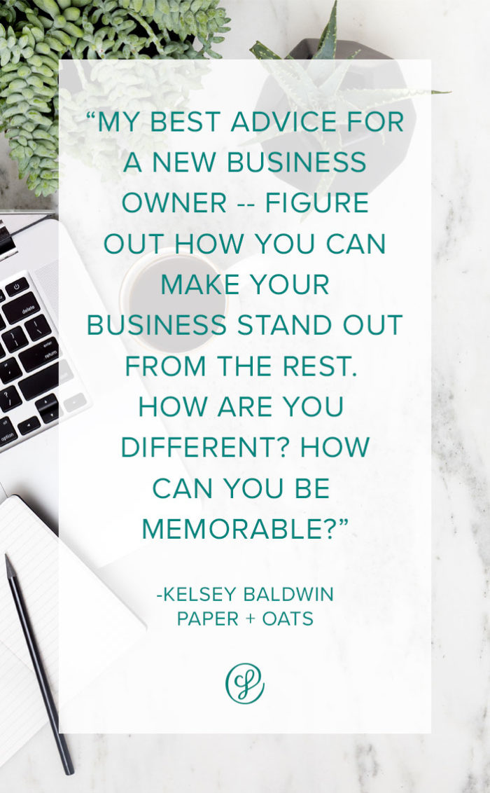 How to start a creative business - Advice and tips from Creative Business Founder Kelsey Baldwin of Paper + Oats