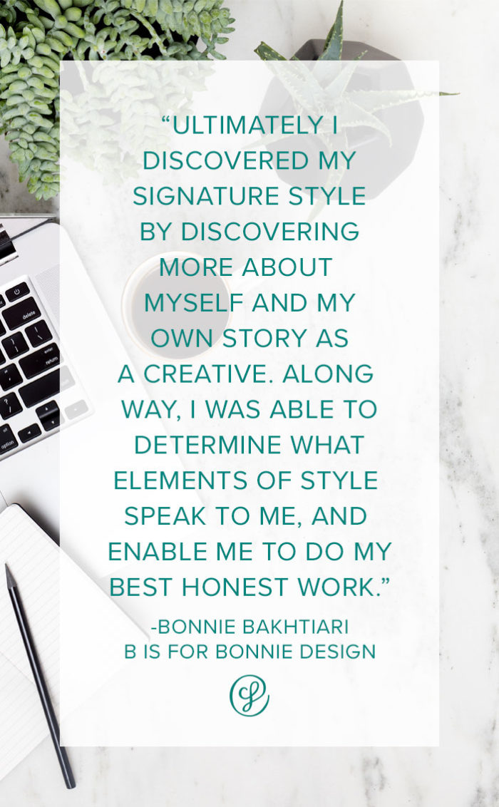 Ask a Creative Founder - Bonnie Bakhtiari - How did you find your signature style?