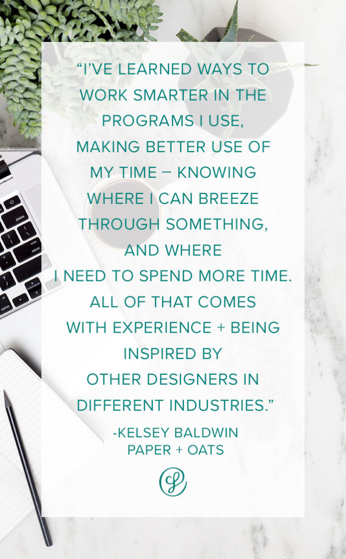 Honing in on Creative Workflows, Skills and Style - Advice from Creative Founder Kelsey Baldwin of Paper + Oats