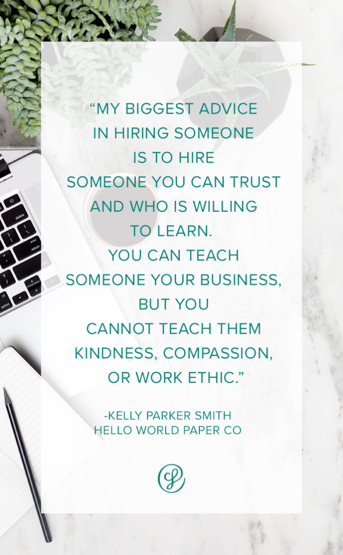 How to Hire Team Members - Kelly Parker Smith - Hello World Paper Co - Ask A Creative Founder