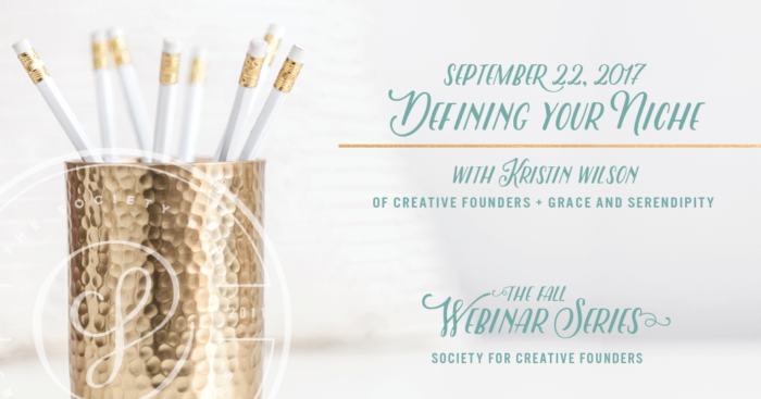Defining your Niche - Webinar with Society for Creative Founders