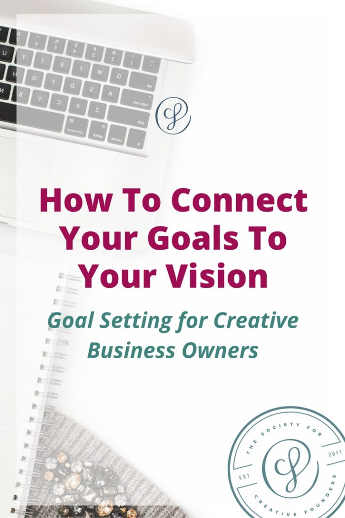 How to connect goals and vision for creative business - goal milestones