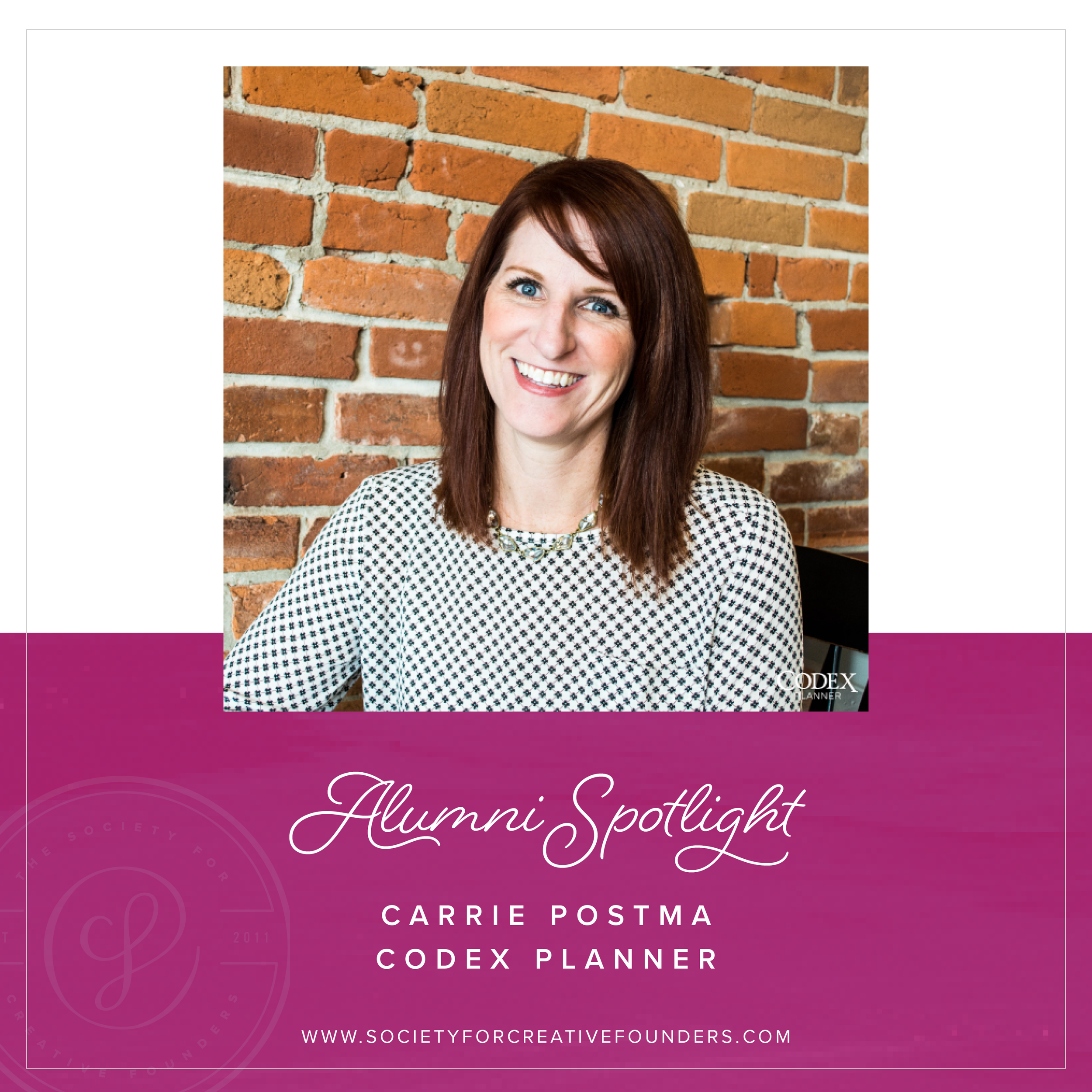 Carrie Postma, founder of the Codex Planner