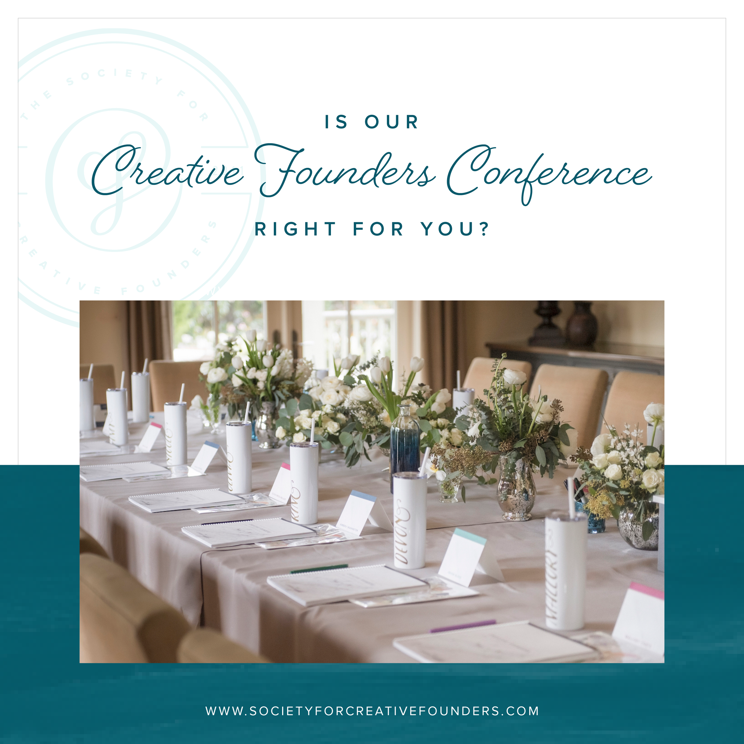 Is our Creative Founders Conference right for you? Join us for a free webinar on October 16th!