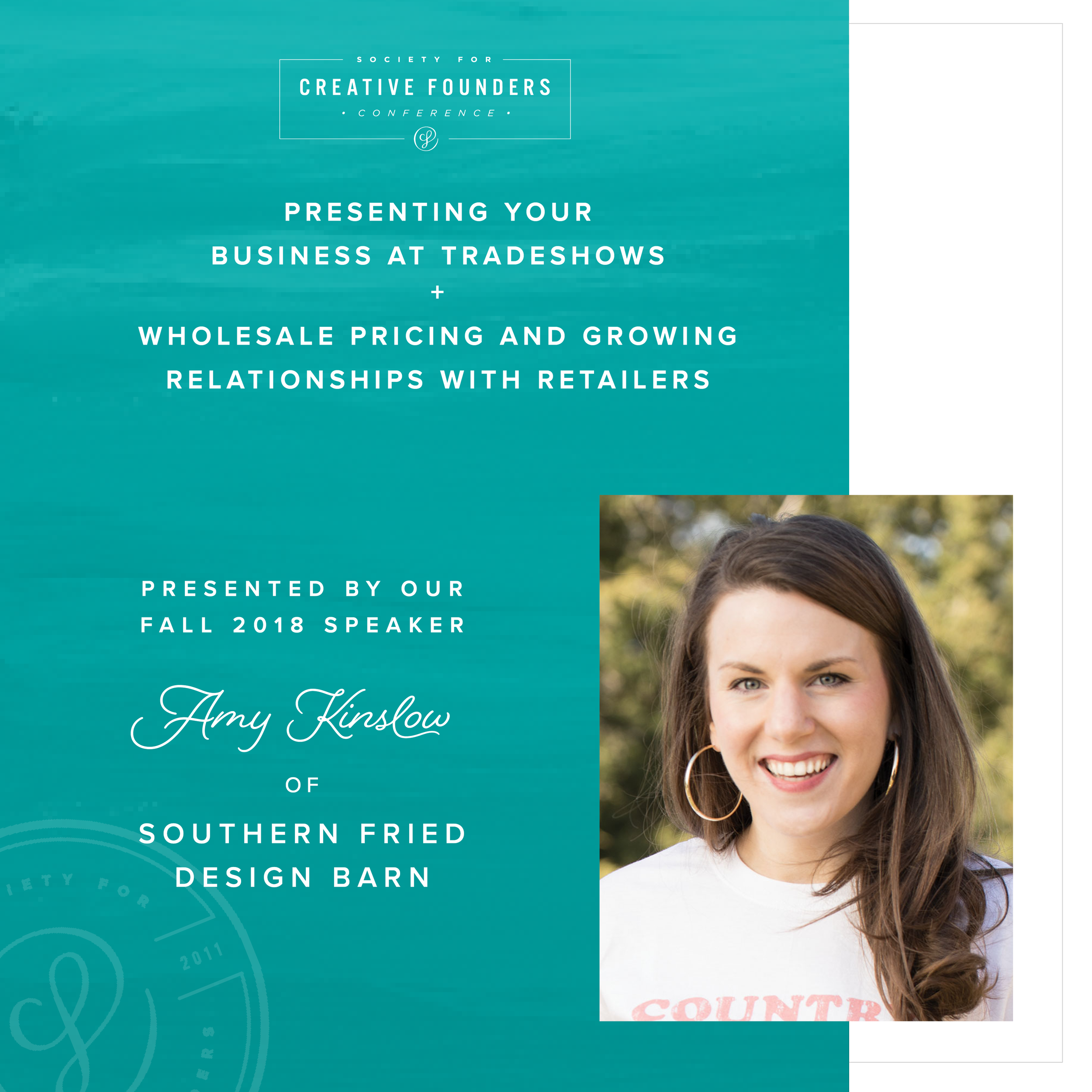 2018 Creative Founders Conference Speaker Amy Kinslow of Southern Fried Design Barn