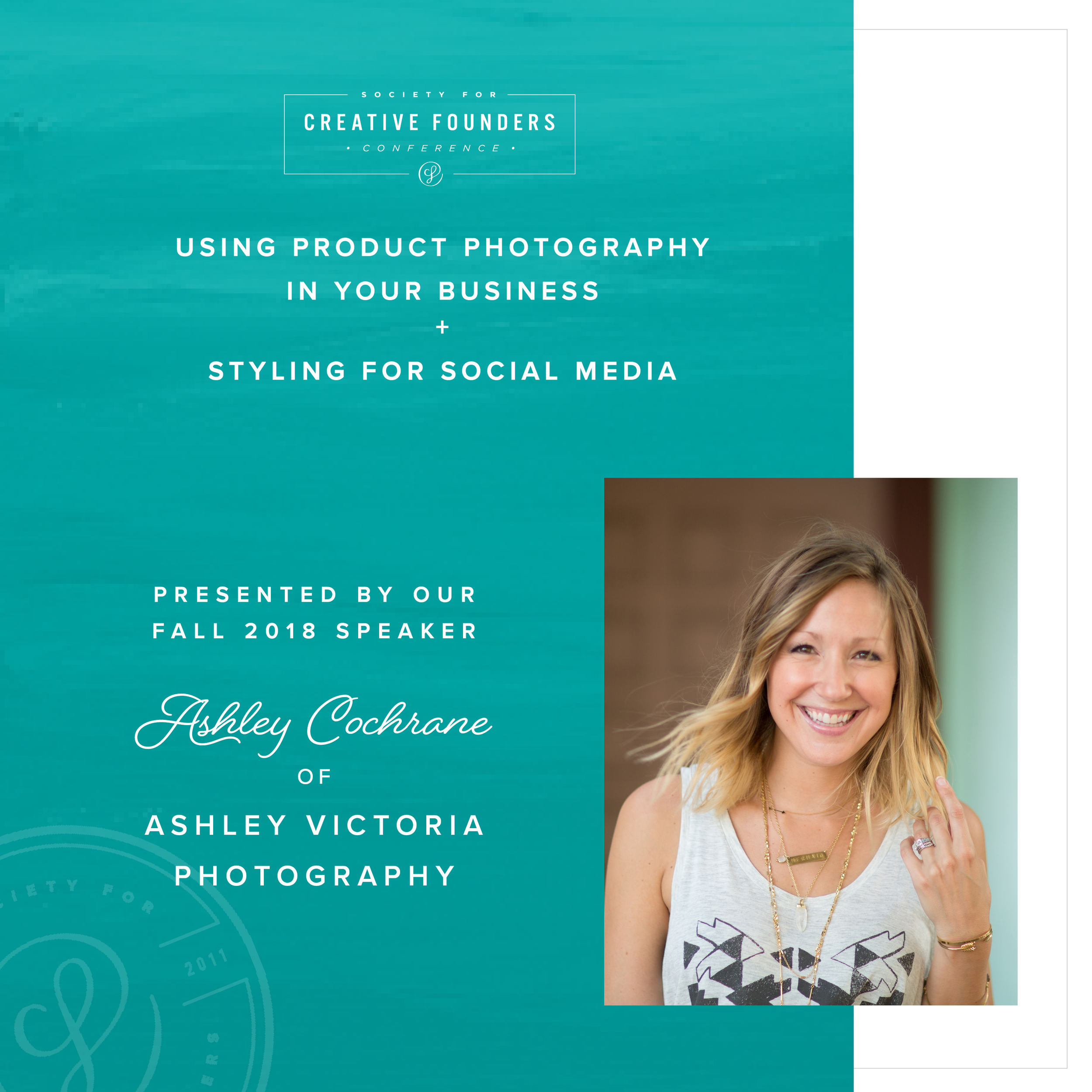 2018 Creative Founders Conference Speaker Ashley Cochrane of Ashley Victoria Photography