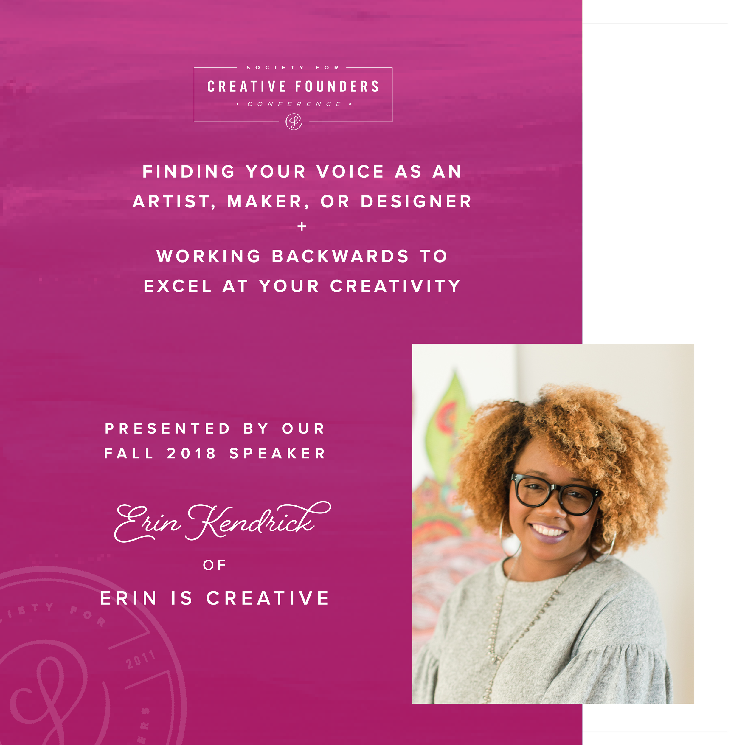 2018 Creative Founders Conference Speaker Erin Kendrick of Erin is Creative