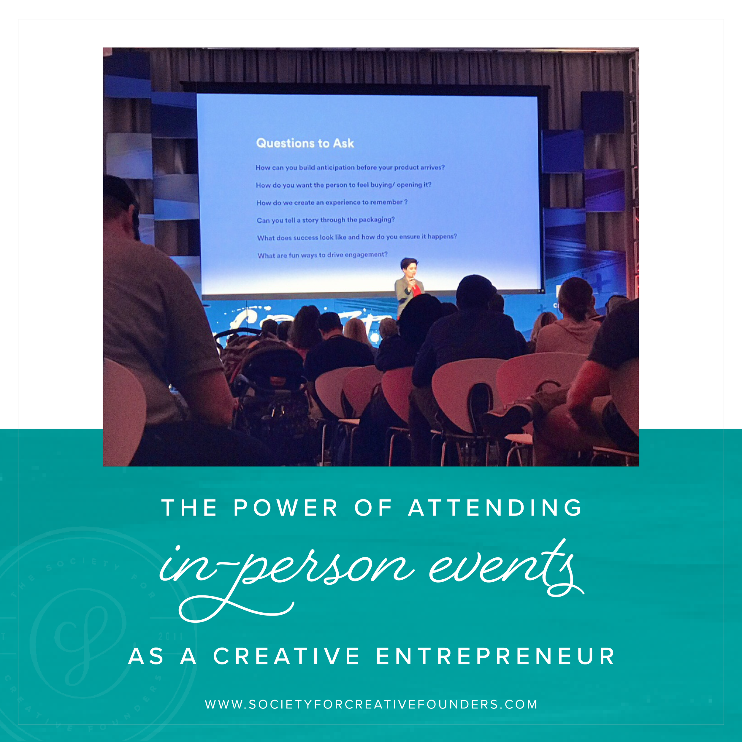 Why Creative Entrepreneurs should go to Conferences, Workshops, and Retreats by Society for Creative Founders