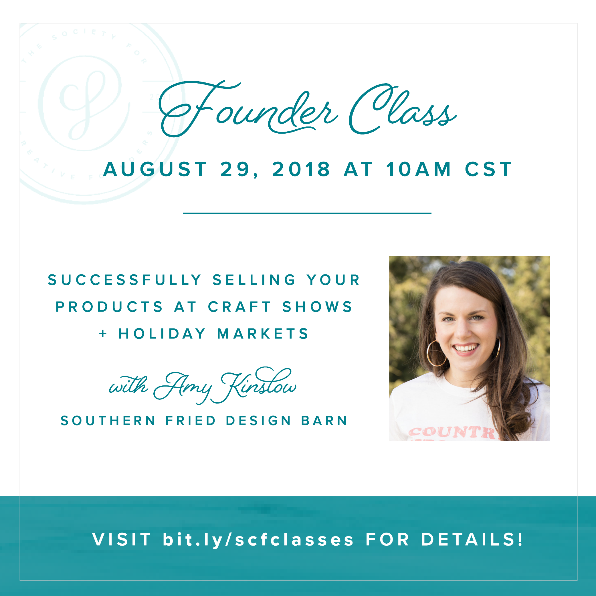 Successfully Selling at Holiday Markets and Craft Shows - Creative Founders Class on August 29th with Amy Kinslow