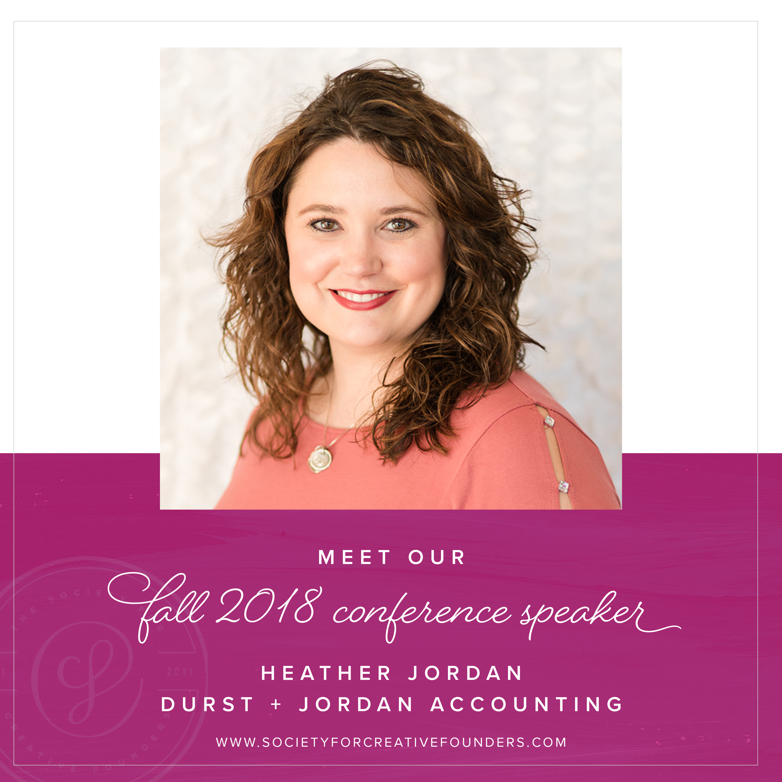 Fall Creative Founders Conference Speaker Heather Jordan of Durst and Jordan Accounting