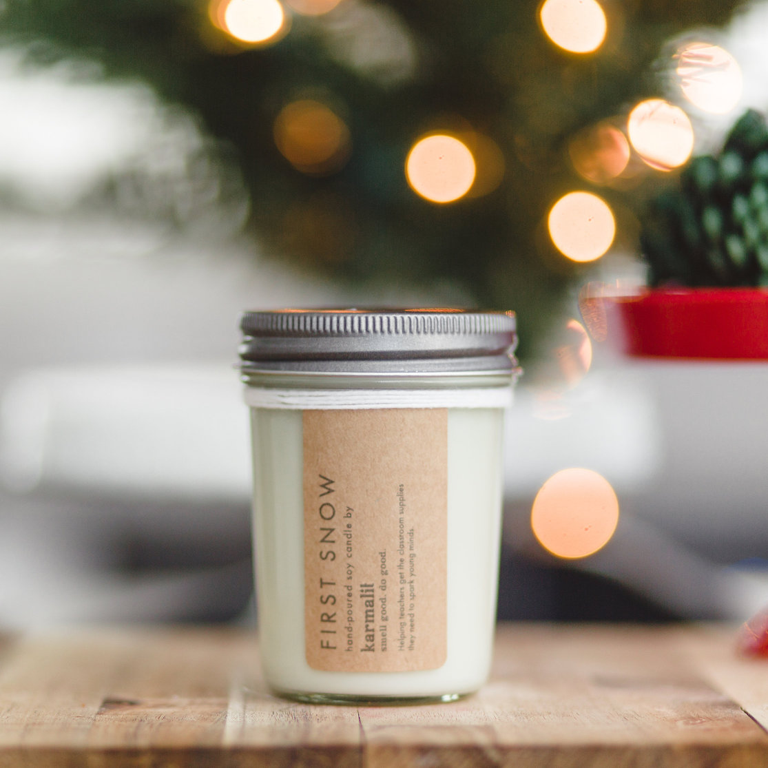 First Snow Candle - KarmaLit