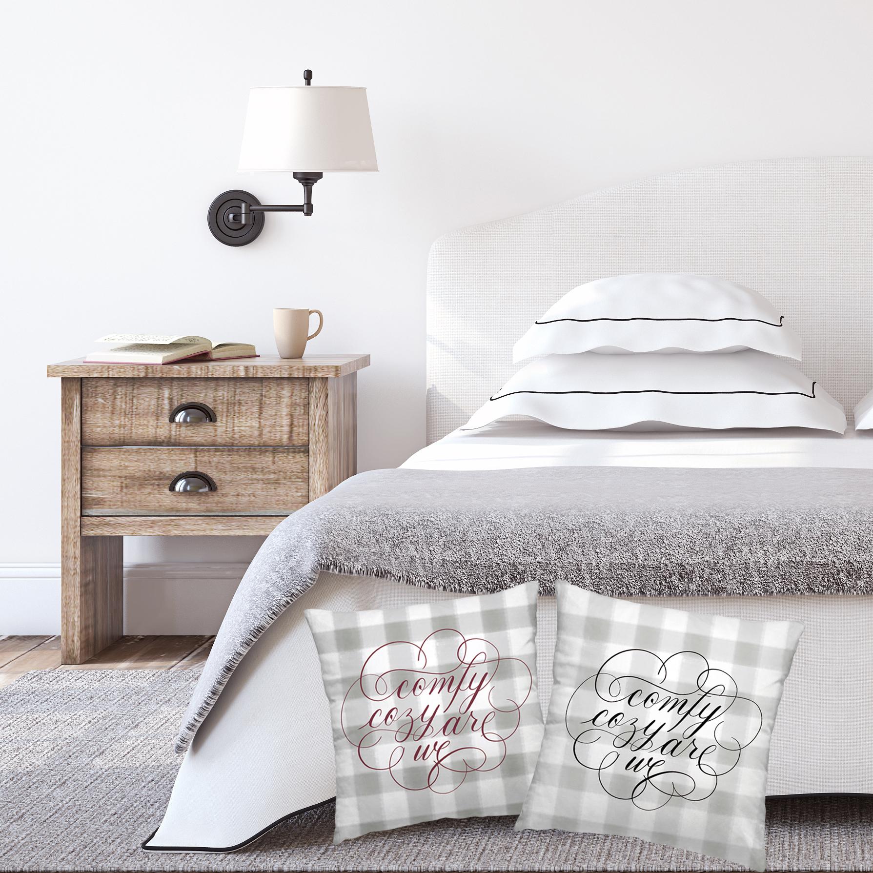 Comfy Cozy Flourished Pillow-  JesSmith Designs