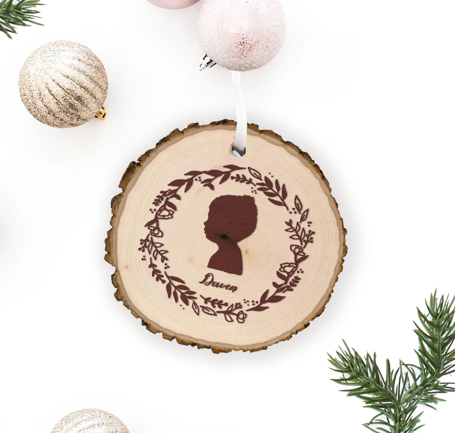 Custom Silhouette Christmas Ornament- LinaLulu Paperie