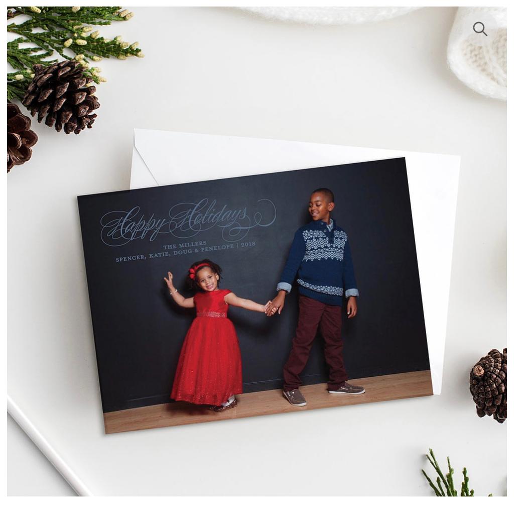 Happy Holidays Custom Holiday Cards - Open Invitation Stationery Boutique