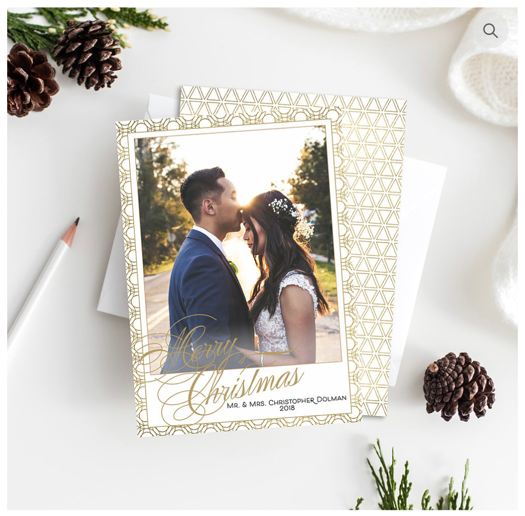 Merry Christmas Custom Holiday Cards - Open Invitation Stationery Boutique