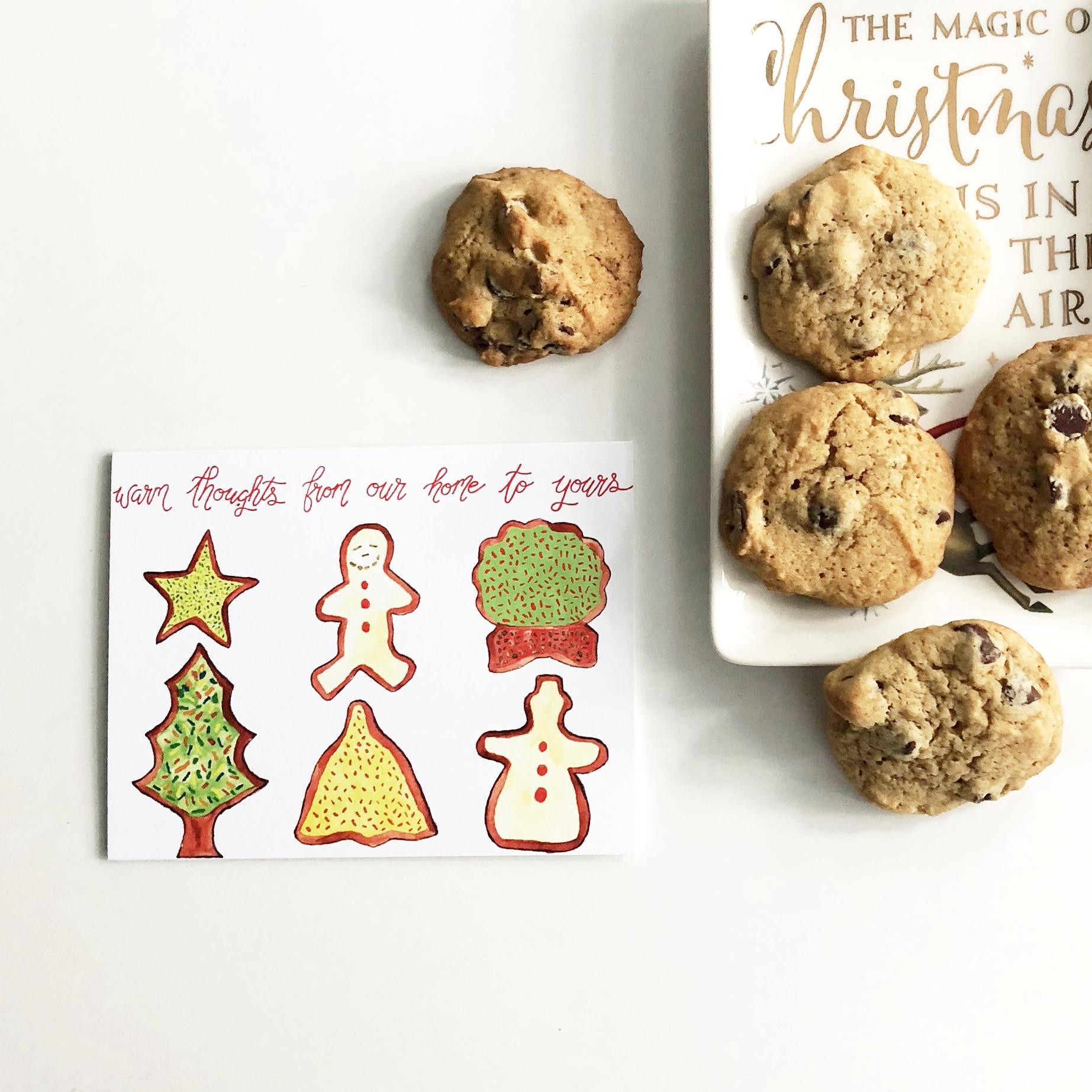 Christmas Cookie Cards - Aqua Opal Studio