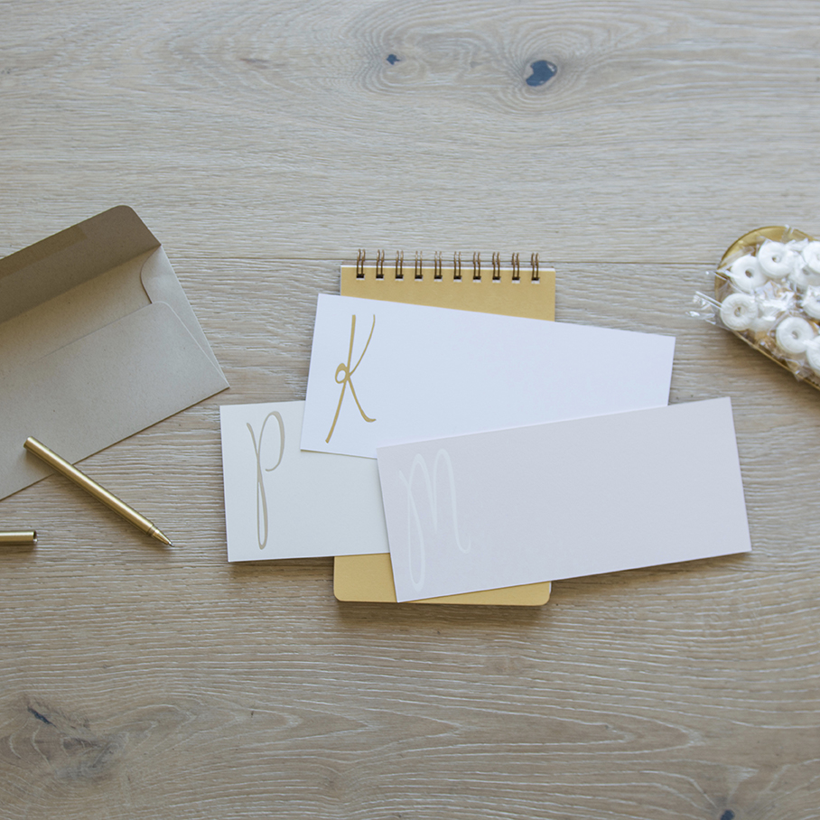Initial This Personalized Stationery - Carde Blanche