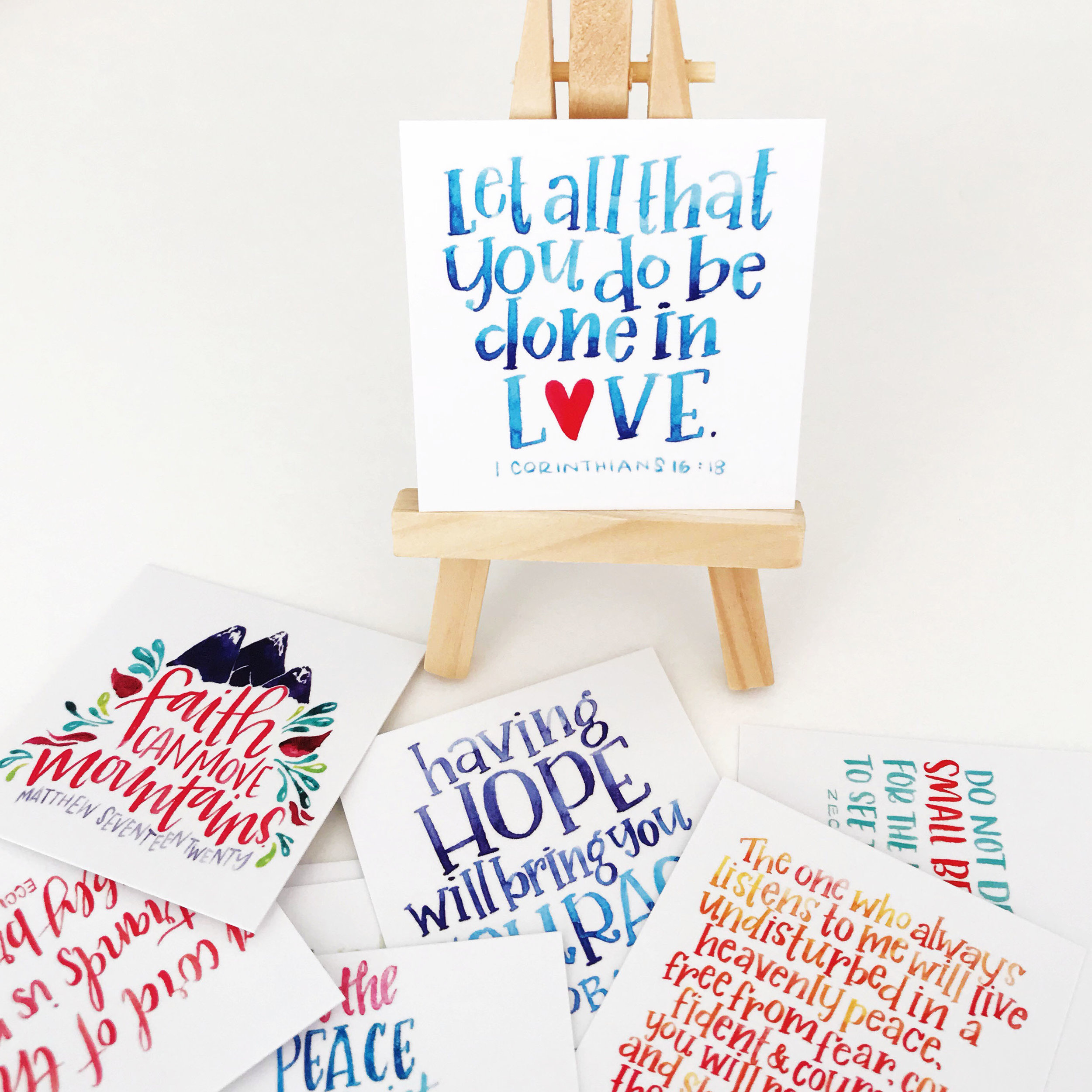 Hand-Lettered Scripture Cards - Clever Mama